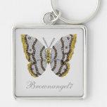 Impresión de la mariposa del diamante llavero personalizado