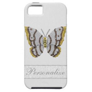 Impresión de la mariposa del diamante personalizad iPhone 5 carcasa