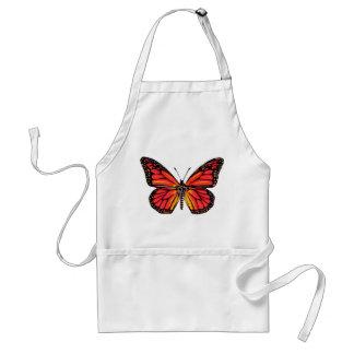 Impresión de la mariposa del vintage delantal