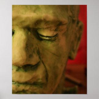 Impresión de la máscara de Halloween Póster