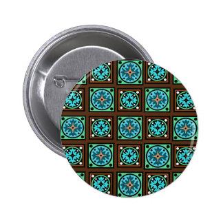 Impresión de la materia textil de Amish Pin Redondo De 2 Pulgadas