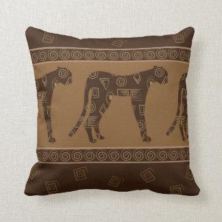Impresión de la materia textil del leopardo en cojin