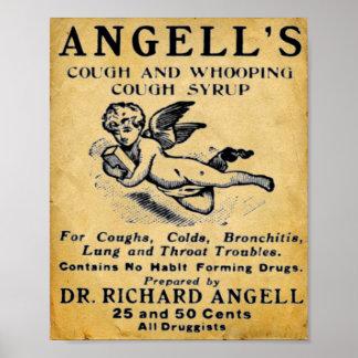 Impresión de la medicina del vintage - jarabe de poster