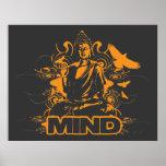 Impresión de la mente de Buda Póster