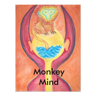 Impresión de la mente del mono fotografias