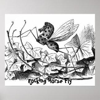Impresión de la mosca del caballo mecedora