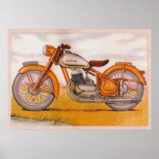 Impresión de la motocicleta de Socovel del oro del
