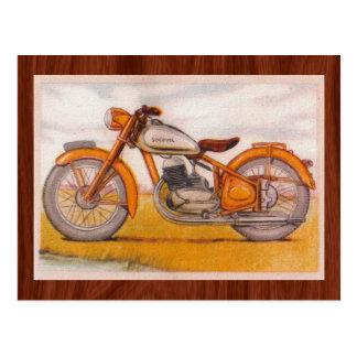 Impresión de la motocicleta de Socovel del oro del Postales