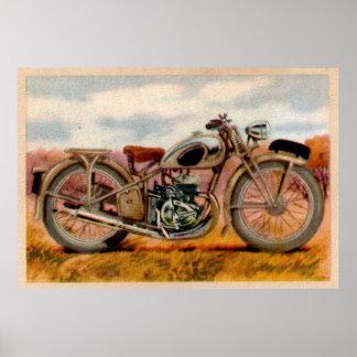 Impresión de la motocicleta del vintage posters