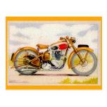 Impresión de la motocicleta del vintage postal