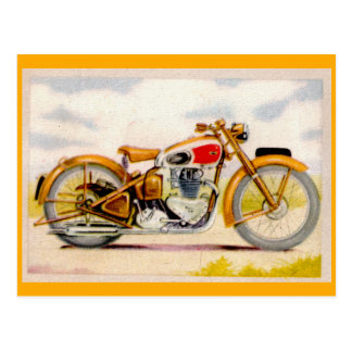 Impresión de la motocicleta del vintage tarjeta postal
