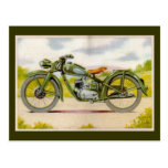 Impresión de la motocicleta del vintage tarjetas postales
