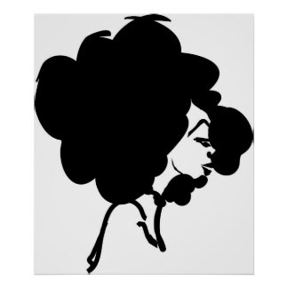 Impresión de la mujer del Afro Poster