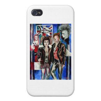 impresión de la música de punk rock, con el popart iPhone 4 funda