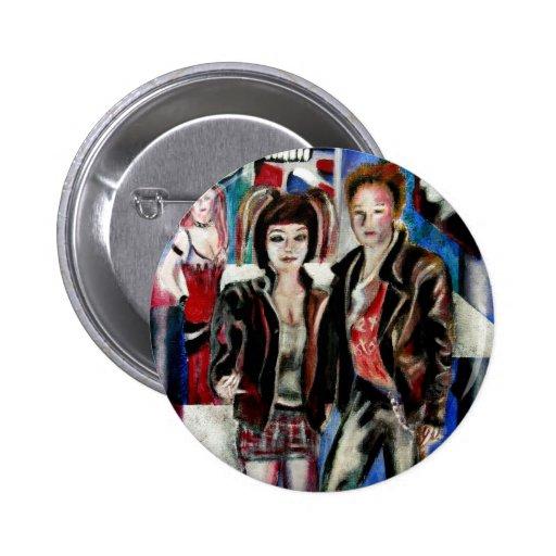 impresión de la música de punk rock, con el popart pins