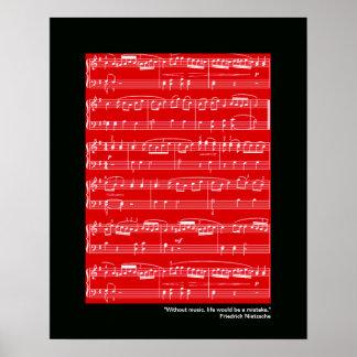 impresión de la música para la pared poster
