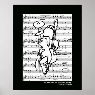 impresión de la música para las paredes posters