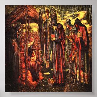 Impresión de la natividad del navidad poster