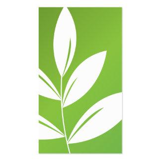Impresión de la naturaleza - hojas del verde plantilla de tarjeta de negocio