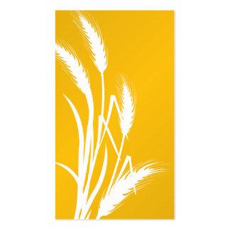 Impresión de la naturaleza - trigo amarillo tarjetas de visita