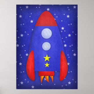 Impresión de la nave de Rocket Poster