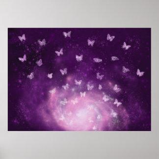 Impresión de la nebulosa de la mariposa póster