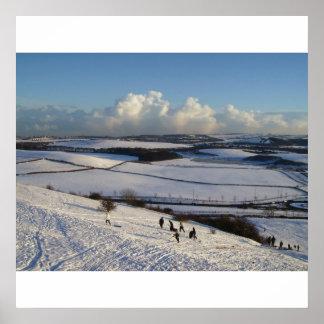 Impresión de la nieve del parque de Herrington Póster