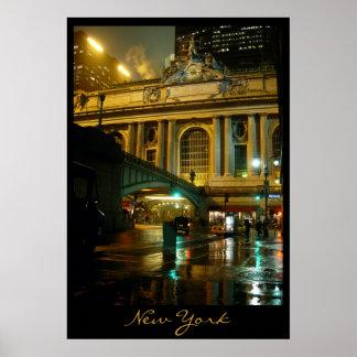 Impresión de la noche de Nueva York del paisaje ur Impresiones