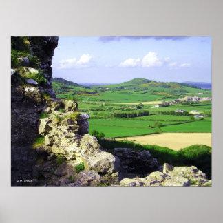 Impresión de la opinión del castillo póster