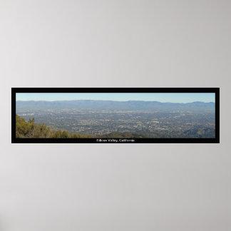 Impresión de la opinión panorámica de Silicon Vall Póster