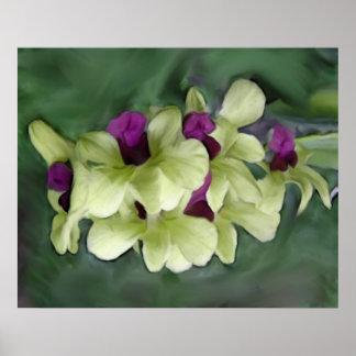 Impresión de la orquídea póster