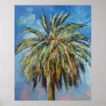 Impresión de la palma datilera de Canarias
