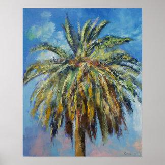 Impresión de la palma datilera de Canarias Póster
