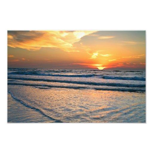 Impresión de la pared de la Florida de la playa de Arte Con Fotos