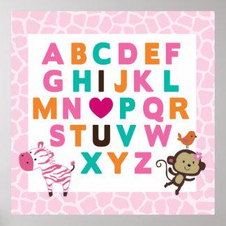 Impresión de la pared del alfabeto de Jilly de la  Impresiones