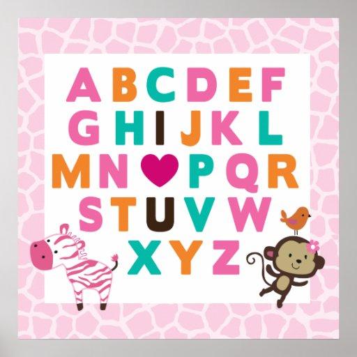 Impresión de la pared del alfabeto de Jilly de la  Póster