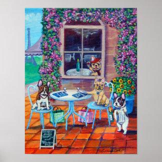 Impresión de la pared del arte del dogo francés póster