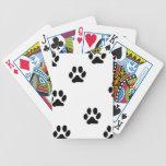 Impresión de la pata baraja de cartas