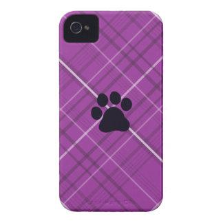 Impresión de la pata de la tela escocesa Case-Mate iPhone 4 carcasa