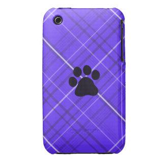 Impresión de la pata de la tela escocesa iPhone 3 cárcasa