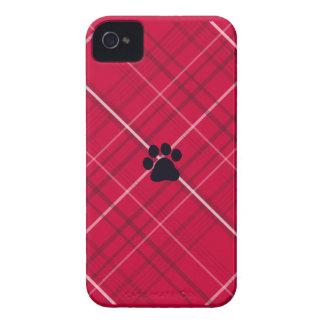 Impresión de la pata de la tela escocesa iPhone 4 Case-Mate carcasa