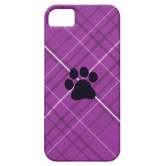 Impresión de la pata de la tela escocesa iPhone 5 carcasas
