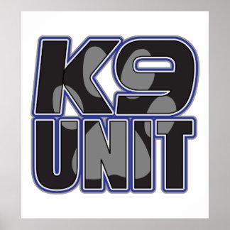 Impresión de la pata de la unidad de la policía K9 Posters