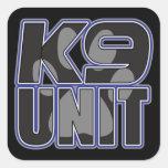 Impresión de la pata de la unidad de la policía K9 Calcomanía Cuadrada Personalizada