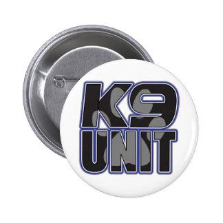 Impresión de la pata de la unidad de la policía K9 Pin Redondo De 2 Pulgadas