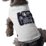Impresión de la pata de la unidad de la policía K9 Ropa De Perros