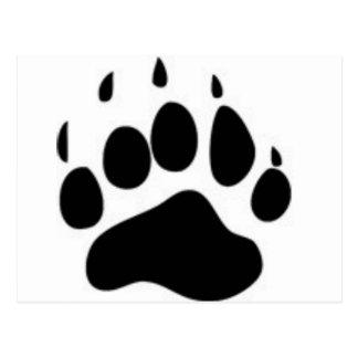 Impresión de la pata de oso tarjeta postal