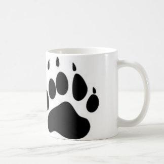 Impresión de la pata de oso taza de café