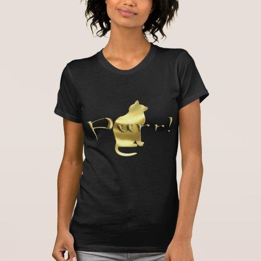 Impresión de la pata de Purrr del oro Camisetas