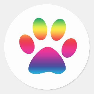 Impresión de la pata del arco iris pegatinas